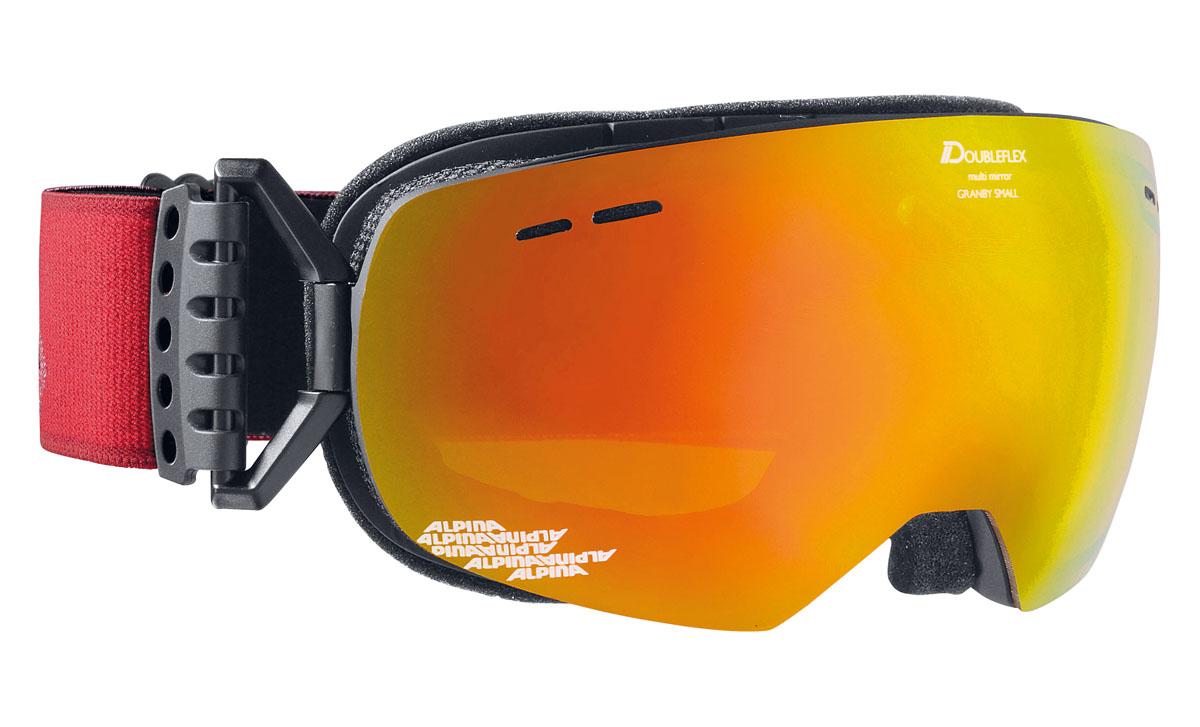 Очки горнолыжные Alpina Granby S MM, цвет: красный, черный, оранжевыйA7237831Компактная горнолыжная маска Alpina с широким углом обзора и сферическими линзами, для применения в условиях переменной облачности и неяркого солнца. -100% защита от УФ А-В-С до 400 нм. -Дизайн маски позволил радикально расширить поле зрения райдера без значительного увеличения размеров линзы. -Сферическая линза дополнительно увеличивает поле зрения и исключает оптические искажения. -Гибкая и комфортная оправа плотно и равномерно прилегает к лицу. -Шарнирные направляющие для ремешка позволяют надежно и комфортно зафиксировать маску на шлеме. -Антифог покрытие снижает риск запотевания маски. -На ремешок нанесены полоски из силикона, которые не дают ему скользить по шлему или шапке. -По контуру оправы расположены вентиляционные порты. -В линзе расположены дополнительные вентиляционные отверстия, которые улучшают циркуляцию воздуха и снижают риск запотевания маски.Что взять с собой на горнолыжную прогулку: рассказывают эксперты. Статья OZON Гид