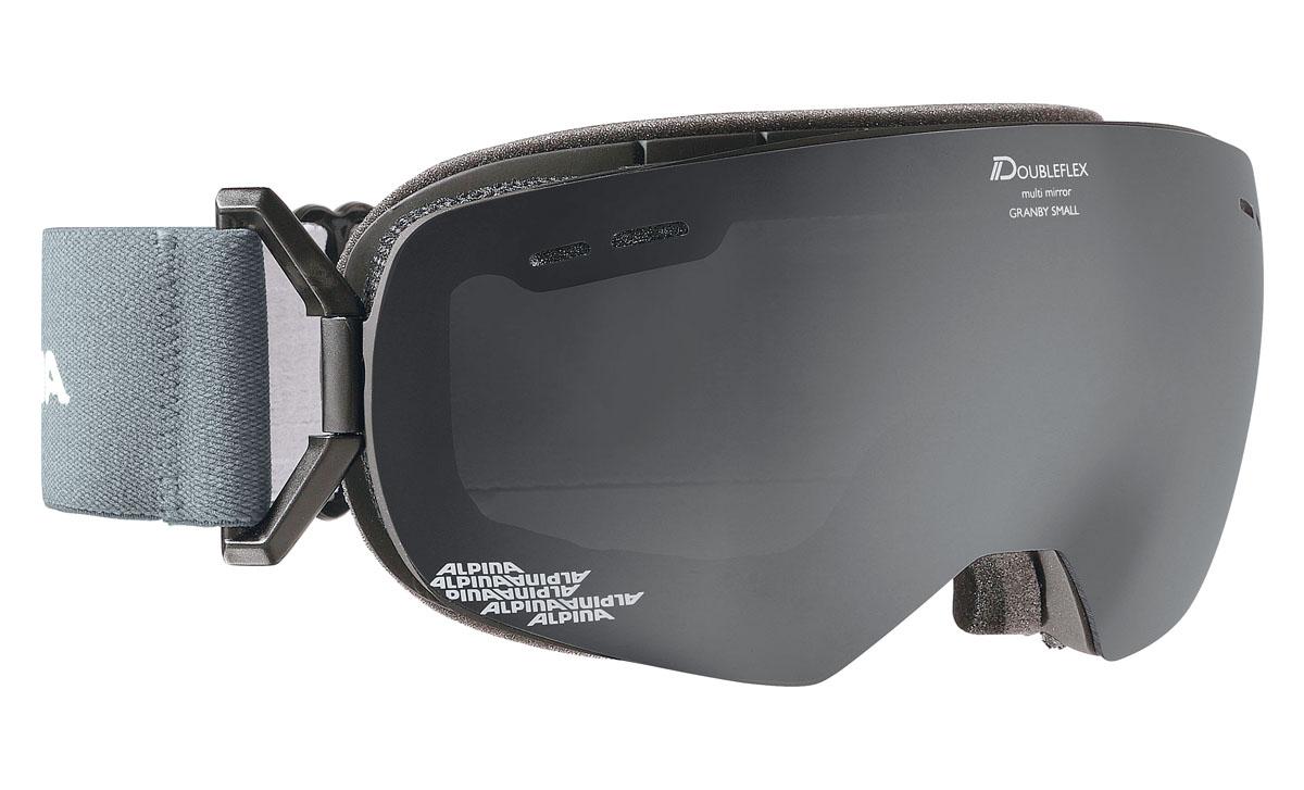 Очки горнолыжные Alpina GRANBY S MM grey/white (Jeans) (S30)A7237851Компактная горнолыжная маска с широким углом обзора, для применения в условиях переменной облачности и неяркого солнца.-100% защита от УФ А-В-С до 400 нм-дизайн маски позволил радикально расширить поле зрения райдера без значительного увеличения размеров линзы-Сферическая линза дополнительно увеличивает поле зрения и исключает оптические искажения-Гибкая и комфортная оправа плотно и равномерно прилегает к лицу-Шарнирные направляющие для ремешка позволяют надёжно и комфортно зафиксировать маску на шлеме -Антифог покрытие снижает риск запотевания маски-На ремешок нанесены полоски из силикона, которые не дают ему скользить по шлему или шапке-По контуру оправы расположены вентиляционные порты-В линзе расположены дополнительные вентиляционные отверстия, которые улучшают циркуляцию воздуха и снижают риск запотевания маски