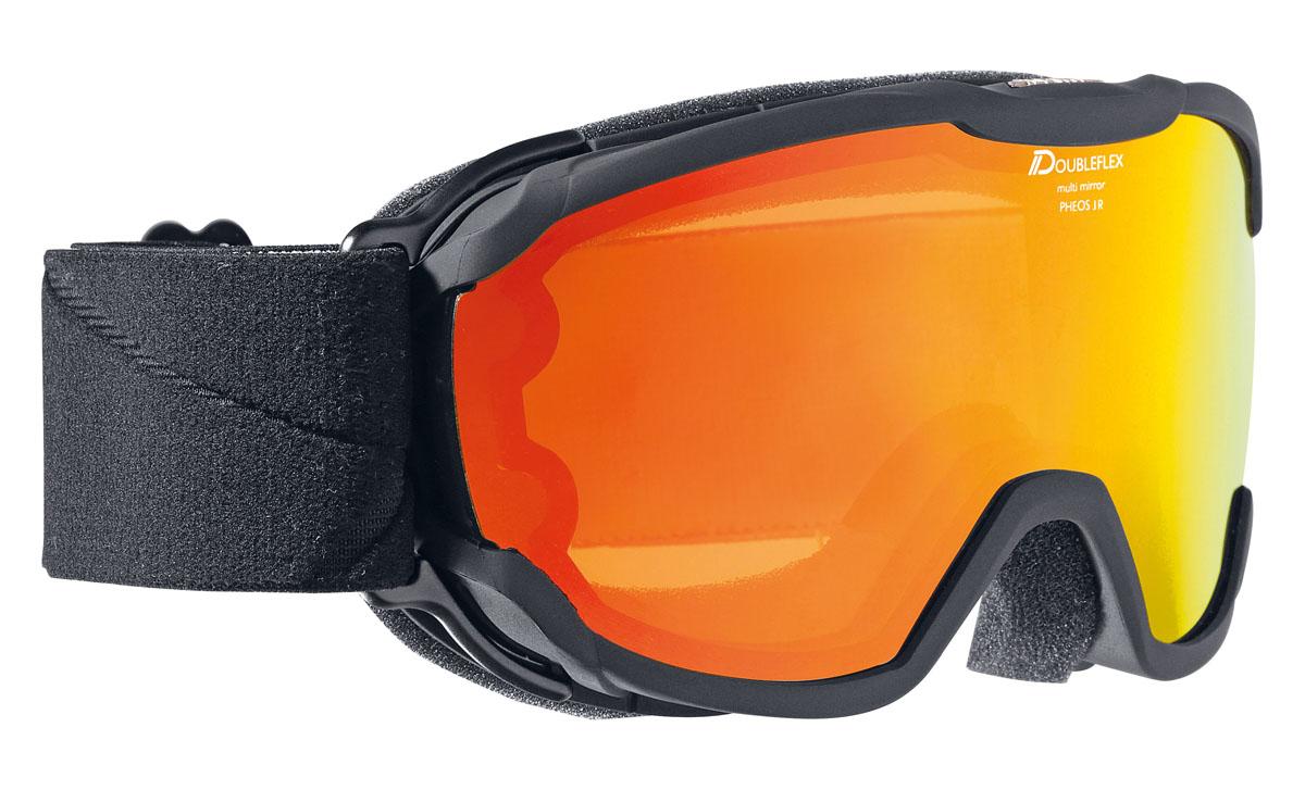 Очки горнолыжные Alpina Pheos JR. MM, цвет: черный, белыйA7239831Комфортная легкая горнолыжная маска Alpina, которая станет отличным выбором для катания в облачную погоду. Она защитит вас от яркого света, снега и сильного ветра. Линза маски абсолютно не пропускает коротковолновое ультрафиолетовое излучение, как раз то, которое наносит вред сетчатки глаз. При этом обеспечивает естественную светопередачу, высокую контрастность, а за счет правильной геометрии - широкий угол обзора. В этой маске вы будете заблаговременно замечать коварные опасности склона и получать максимальное удовольствие от катания, но и от окружающей панорамы.Оправа со стороны лица имеет слой вспененного материала, который, деформируясь, принимает форму лица. Таким образом, достигается плотное прилегание маски, равномерное давление и исключение болевых точек.Вентиляционные отверстия в оправе обеспечивают циркуляцию воздуха, что предотвращает запотевание линзы.Угол обзора более 180 градусов.Ремешок крепится на подвижных шарнирах с внешней стороны рамы, благодаря чему маску гораздо удобнее использовать совместно со шлемом.Специальное противоскользящее покрытие с внутренней поверхности ремешка, предотвращает соскальзывание со шлема.