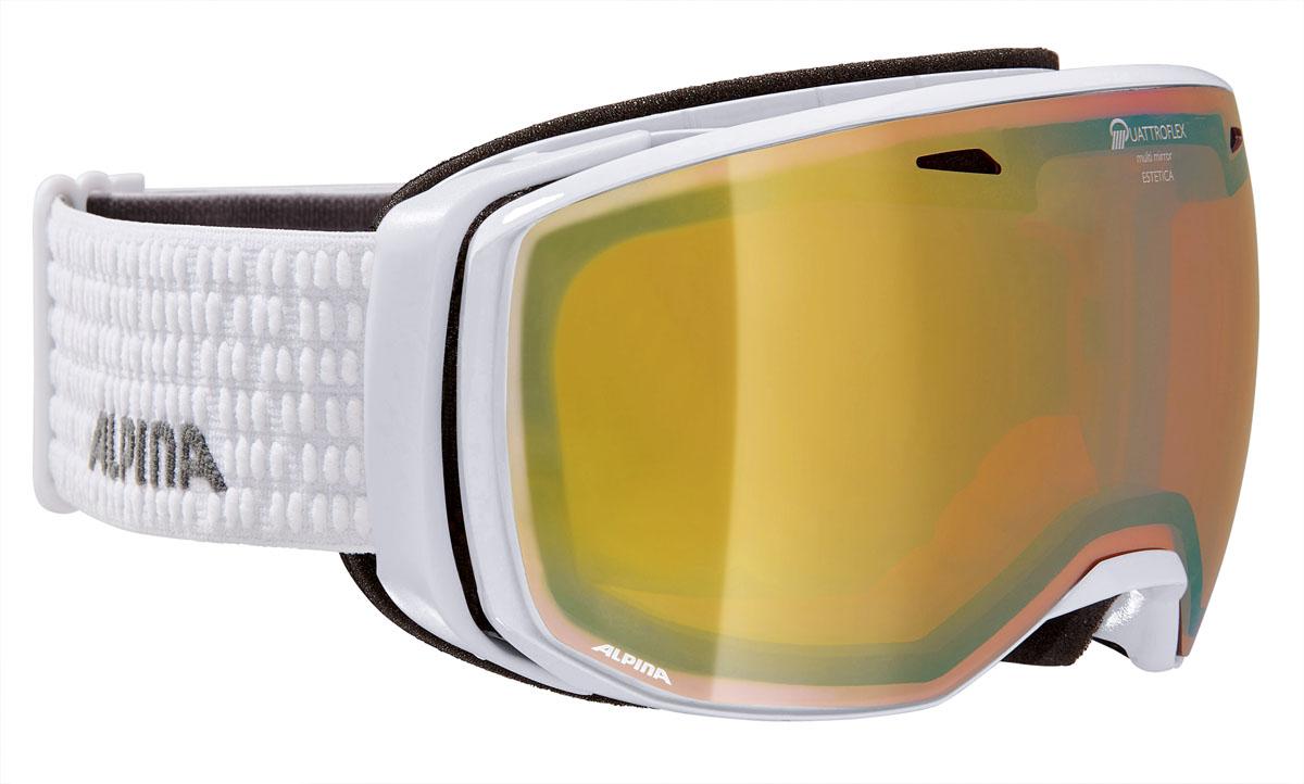 Очки горнолыжные Alpina ESTETICA QMM white/grey (white dots) (M30)A7245811Компактная горнолыжная маска с широким углом обзора и сферическими линзами , для применения в условиях переменной облачности и неяркого солнца.-100% защита от УФ А-В-С до 400 нм-Фильтр категории S2 рассчитан на катание в условиях переменной облачности и неяркого солнца-дизайн маски позволил радикально расширить поле зрения райдера без значительного увеличения размеров линзы-Сферическая линза дополнительно увеличивает поле зрения и исключает оптические искажения-Гибкая и комфортная оправа плотно и равномерно прилегает к лицу-Шарнирные направляющие для ремешка позволяют надёжно и комфортно зафиксировать маску на шлеме -Антифог покрытие снижает риск запотевания маски-На ремешок нанесены полоски из силикона, которые не дают ему скользить по шлему или шапке-По контуру оправы расположены вентиляционные порты-В линзе расположены дополнительные вентиляционные отверстия, которые улучшают циркуляцию воздуха и снижают риск запотевания маски-поляризованная двойная линза Quattroflex со стильным зеркальным покрытием Multi Mirrow