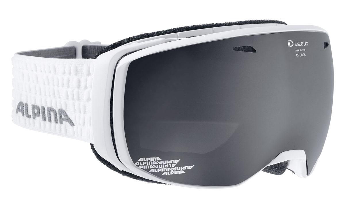 Очки горнолыжные Alpina ESTETICA MM white/grey (white dots) (M30)A7246811Компактная горнолыжная маска с широким углом обзора и сферическими линзами , для применения в условиях переменной облачности и неяркого солнца. -100% защита от УФ А-В-С до 400 нм-Фильтр категории S3 рассчитан на катание в условиях в условиях яркой солнечной погоды-дизайн маски позволил радикально расширить поле зрения райдера без значительного увеличения размеров линзы-Сферическая линза дополнительно увеличивает поле зрения и исключает оптические искажения-Гибкая и комфортная оправа плотно и равномерно прилегает к лицу-Шарнирные направляющие для ремешка позволяют надёжно и комфортно зафиксировать маску на шлеме -Антифог покрытие снижает риск запотевания маски-На ремешок нанесены полоски из силикона, которые не дают ему скользить по шлему или шапке-По контуру оправы расположены вентиляционные порты-В линзе расположены дополнительные вентиляционные отверстия, которые улучшают циркуляцию воздуха и снижают риск запотевания маски-поляризованная двойная линза Quattroflex со стильным зеркальным покрытием Multi Mirrow.