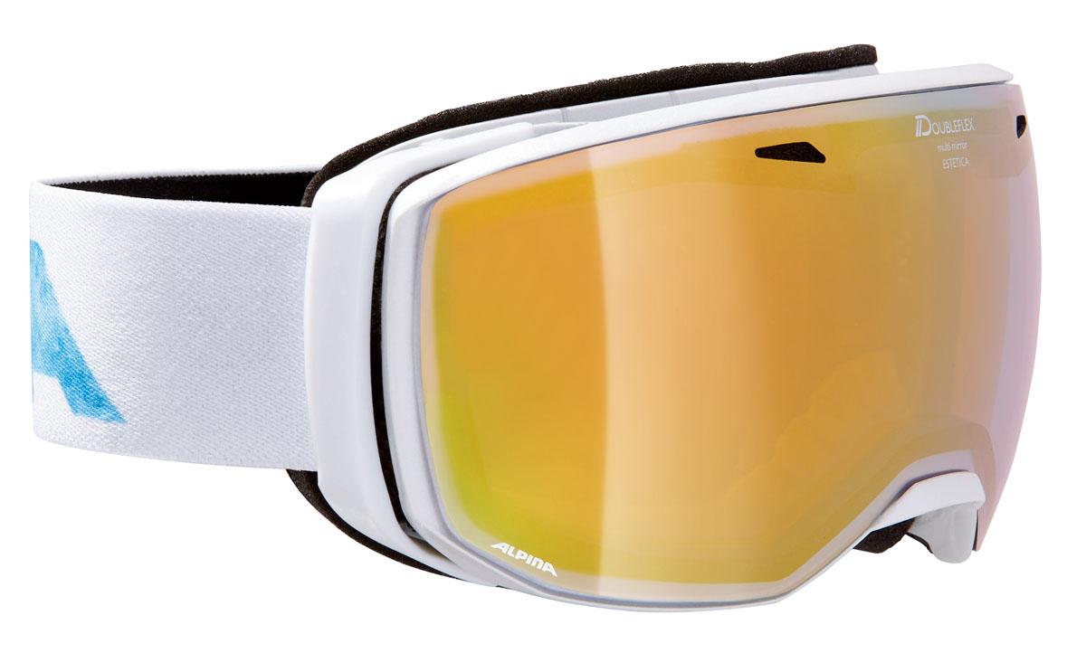 Очки горнолыжные Alpina Estetica MM, цвет: белый, голубой, розовыйA7246812Компактная горнолыжная маска Alpina с широким углом обзора и сферическими линзами, для применения в условиях переменной облачности и неяркого солнца. -100% защита от УФ А-В-С до 400 нм. -Фильтр категории S3 рассчитан на катание в условиях в условиях яркой солнечной погоды. -Дизайн маски позволил радикально расширить поле зрения райдера без значительного увеличения размеров линзы. -Сферическая линза дополнительно увеличивает поле зрения и исключает оптические искажения. -Гибкая и комфортная оправа плотно и равномерно прилегает к лицу. -Шарнирные направляющие для ремешка позволяют надежно и комфортно зафиксировать маску на шлеме. -Антифог покрытие снижает риск запотевания маски. -На ремешок нанесены полоски из силикона, которые не дают ему скользить по шлему или шапке. -По контуру оправы расположены вентиляционные порты. -В линзе расположены дополнительные вентиляционные отверстия, которые улучшают циркуляцию воздуха и снижают риск запотевания маски. -Поляризованная двойная линза Quattroflex со стильным зеркальным покрытием Multi Mirrow.Что взять с собой на горнолыжную прогулку: рассказывают эксперты. Статья OZON Гид