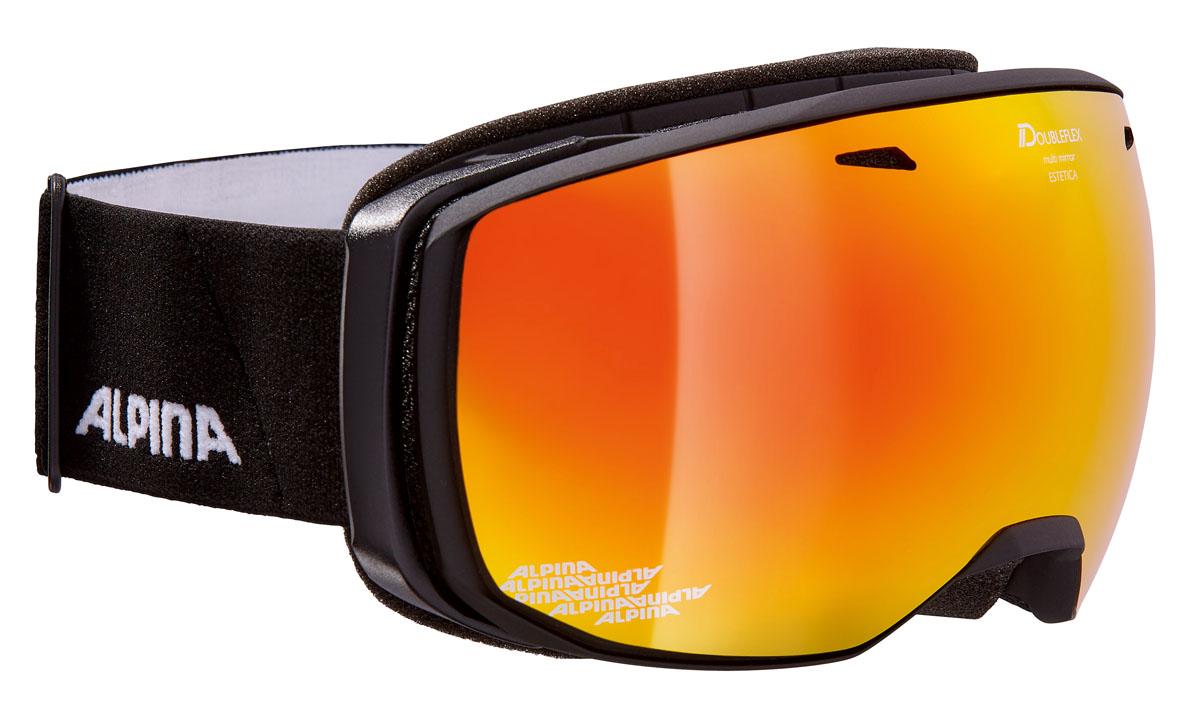 Очки горнолыжные Alpina Estetica MM, цвет: черный, белыйA7246831Компактная горнолыжная маска Alpina с широким углом обзора и сферическими линзами, для применения в условиях переменной облачности и неяркого солнца.-100% защита от УФ А-В-С до 400 нм.-Фильтр категории S3 рассчитан на катание в условиях в условиях яркой солнечной погоды.-Дизайн маски позволил радикально расширить поле зрения райдера без значительного увеличения размеров линзы.-Сферическая линза дополнительно увеличивает поле зрения и исключает оптические искажения.-Гибкая и комфортная оправа плотно и равномерно прилегает к лицу.-Шарнирные направляющие для ремешка позволяют надежно и комфортно зафиксировать маску на шлеме.-Антифог покрытие снижает риск запотевания маски.-На ремешок нанесены полоски из силикона, которые не дают ему скользить по шлему или шапке.-По контуру оправы расположены вентиляционные порты.-В линзе расположены дополнительные вентиляционные отверстия, которые улучшают циркуляцию воздуха и снижают риск запотевания маски.-Поляризованная двойная линза Quattroflex со стильным зеркальным покрытием Multi Mirrow.