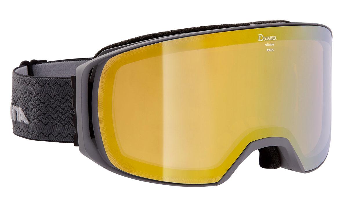 Очки горнолыжные Alpina Arris MM, цвет: антрацитовый, серыйA7253835Горнолыжные очки Alpina Arris входят в линейку масок OTG, специально предназначенных для ношения с корректирующими очками. Для это в Arris предусмотрен большой внутренний объем и выемки в уплотнителе для дужек. Маску отличает широкий угол обзора и применение безоправной конструкции, которая позволяет радикально увеличить поле зрения райдера без значительного увеличения площади линзы. Маска отлично вентилируется и, за счет шарнирных проушин для ремешка, может быть корректно зафиксирована поверх массивного шлема.