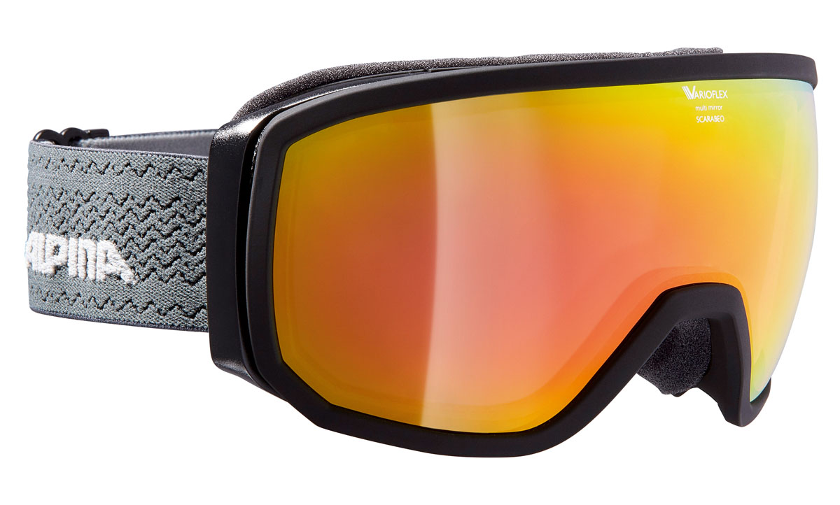 Очки горнолыжные Alpina Scarabeo VMM, цвет: антрацитовый, серый, оранжевыйA7254732Горнолыжная маска Alpina Scarabeo в стильной классической оправе подходит для большинства райдеров и совместима с большинством шлемов. Помимо того, что маски очень круто выглядят, они обеспечивают неограниченный обзор и высокую контрастность изображения.-Яркое цветное зеркальное покрытие Multi Mirror обеспечивает дополнительную контрастность и высокую степень защиты от теплового (инфракрасного) излучения.-Сферические линзы с зеркальным покрытием для максимального обзора во всех направлениях.-Форма оправы обеспечивает неограниченный обзор.-Airframe Venting System - система вентиляции обеспечивает оптимальный микроклимат и дополнительно препятствует запотеванию.-Гибкая оправа и слой пены для максимально комфортной и плотной посадки по лицу райдера.-Маска совместима с диоптрийными очками.-Эластичный регулируемый стреп прочно удерживает маску от соскальзывания.