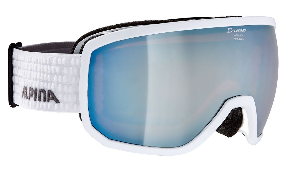 Очки горнолыжные Alpina SCARABEO MM white/grey (white dots) (L50) challenger alpina 16 white pink