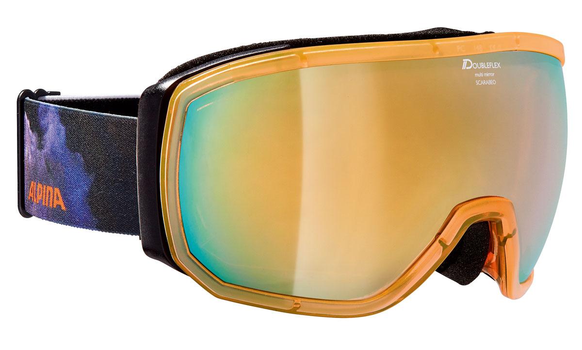 Очки горнолыжные Alpina SCARABEO MM black/blue/orange/print (supernova) (L50)A7256842Дизайн SCARABEO устанавливает стандарты с точки зрения формы и стиля. Зеркальная маска с эстетически приятной рамой, доступны с различными технологиями линзы. Кроме того доступны разные линзы Quattroflex и Varioflex.Что взять с собой на горнолыжную прогулку: рассказывают эксперты. Статья OZON Гид