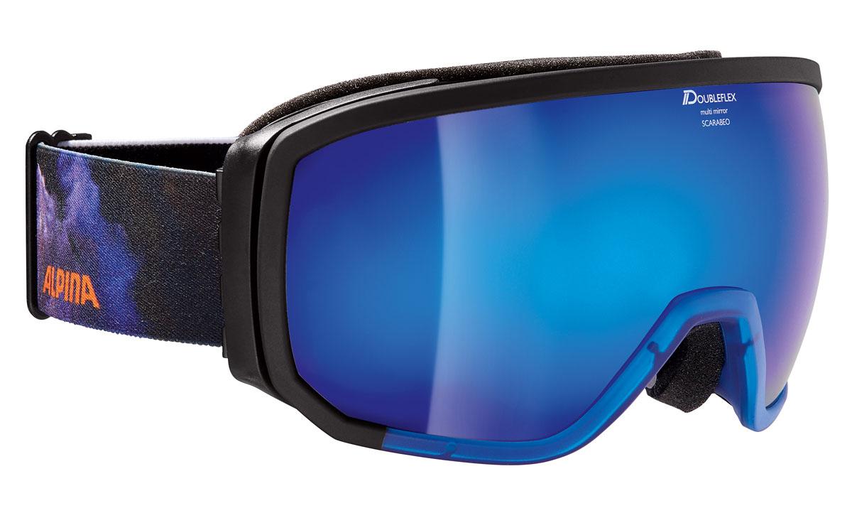Очки горнолыжные Alpina SCARABEO MM black/blue/orange/print (supernova) (L50) supernova adidas