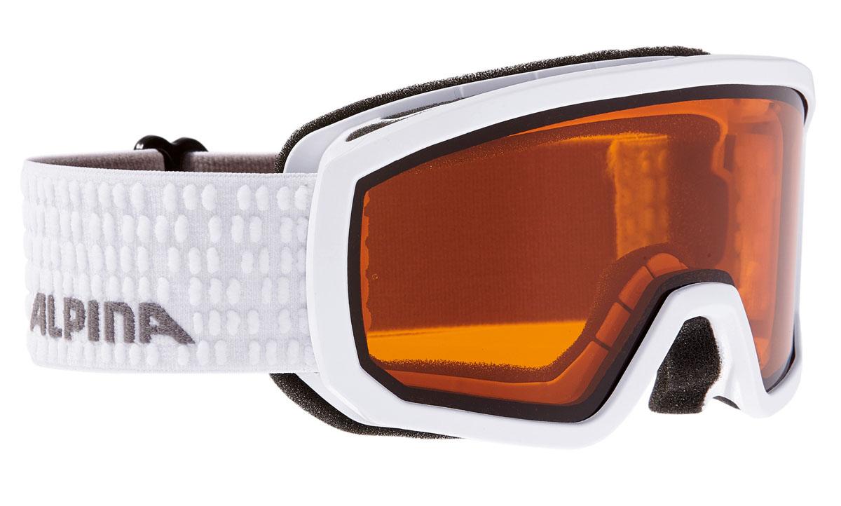 Очки горнолыжные Alpina Scarabeo JR. DH, цвет: белый, серыйA7258111Горнолыжные очки Alpina Scarabeo имеет отличный панорамный вид и защищает от снега, ветра и яркого солнечного света, что позволяет детям безопасно кататься со склонов. Сферическая линза, зеркальное напыление, двойная линза. Airframe Venting System - система вентиляции обеспечивает оптимальный микроклимат и дополнительно препятствует запотеванию. Эластичный регулируемый стреп прочно удерживает маску от соскальзывания. Эта маска также идеально подходит для детей, которые носят очки.