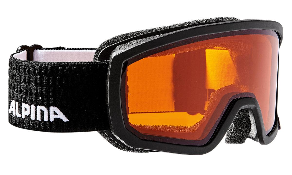 Очки горнолыжные Alpina Scarabeo JR. DH, цвет: черный, белыйA7258131Горнолыжные очки Alpina Scarabeo имеет отличный панорамный вид и защищает от снега, ветра и яркого солнечного света, что позволяет детям безопасно кататься со склонов. Сферическая линза, зеркальное напыление, двойная линза. Airframe Venting System - система вентиляции обеспечивает оптимальный микроклимат и дополнительно препятствует запотеванию. Эластичный регулируемый стреп прочно удерживает маску от соскальзывания. Эта маска также идеально подходит для детей, которые носят очки.
