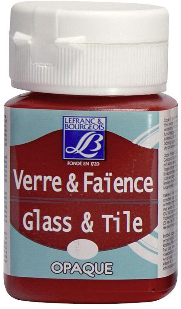 Краска по стеклу и керамике Lefranc & Bourgeois Glass&Tile, непрозрачная, цвет: светло-красный (323), 50 млАкв-004Акриловая обжигаемая краска на водной основе Lefranc & Bourgeois Glass&Tile применяется для декорирования стеклянной посуды, различных видах фарфора и керамики. После высыхания внешне ничем не отличаются от витражных сольвентовых красок. Можно разбавлять водой.