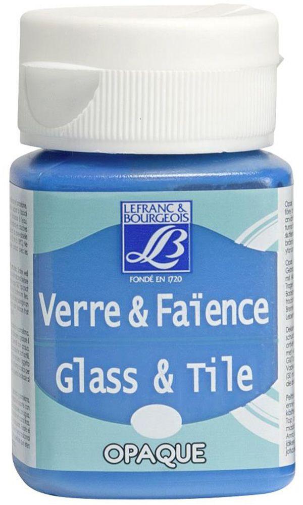 Краска по стеклу и керамике Lefranc & Bourgeois Glass&Tile, непрозрачная, цвет: синяя лазурь (035), 50 млLF211472Акриловая обжигаемая краска на водной основе Lefranc & Bourgeois Glass&Tile применяется для декорирования стеклянной посуды, различных видах фарфора и керамики. После высыхания внешне ничем не отличаются от витражных сольвентовых красок. Можно разбавлять водой.