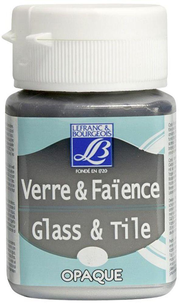 """Краска по стеклу и керамике Lefranc & Bourgeois """"Glass&Tile"""", непрозрачная, цвет: серебряный (710), 50 мл"""