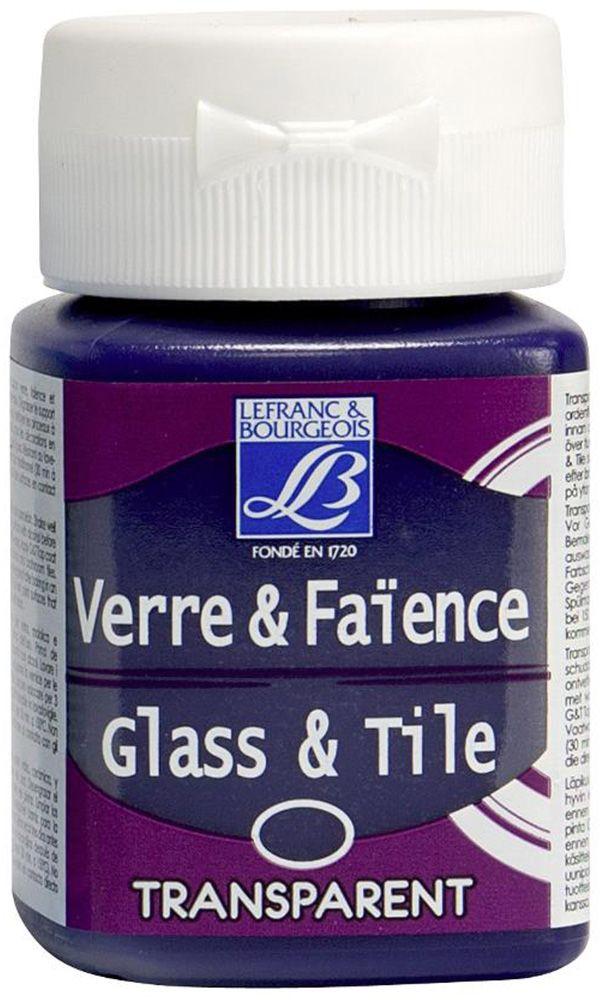 "Краска по стеклу и керамике Lefranc & Bourgeois ""Glass&Tile"", прозрачная, обжиг, цвет: парма (619), 50 мл"