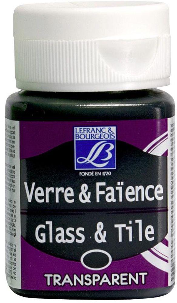 """Краска по стеклу и керамике Lefranc & Bourgeois """"Glass&Tile"""", прозрачная, цвет: персидкая зелень (585), 50 мл"""