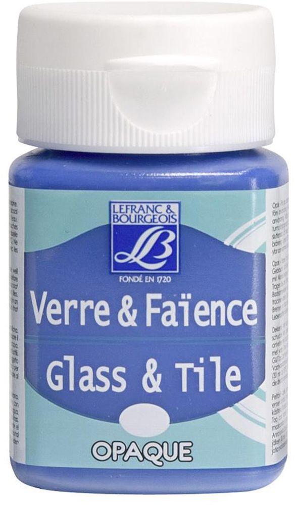 Краска по стеклу и керамике Lefranc & Bourgeois Glass&Tile, непрозрачная, цвет: морской голубой (658), 50 млLF210929Акриловая обжигаемая краска на водной основе Lefranc & Bourgeois Glass&Tile применяется для декорирования стеклянной посуды, различных видах фарфора и керамики. После высыхания внешне ничем не отличаются от витражных сольвентовых красок. Можно разбавлять водой.