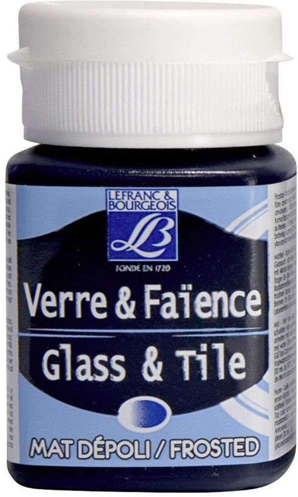 """Краска по стеклу и керамике Lefranc & Bourgeois """"Glass&Tile"""", морозный эффект, цвет: фиолет аметист (646), 50 мл"""