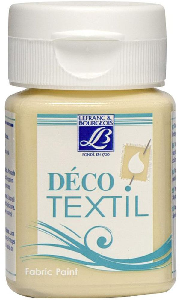 "Краска по ткани Lefranc & Bourgeois ""Deco Textil"", цвет: молочно-кремовый (872), 50 мл"
