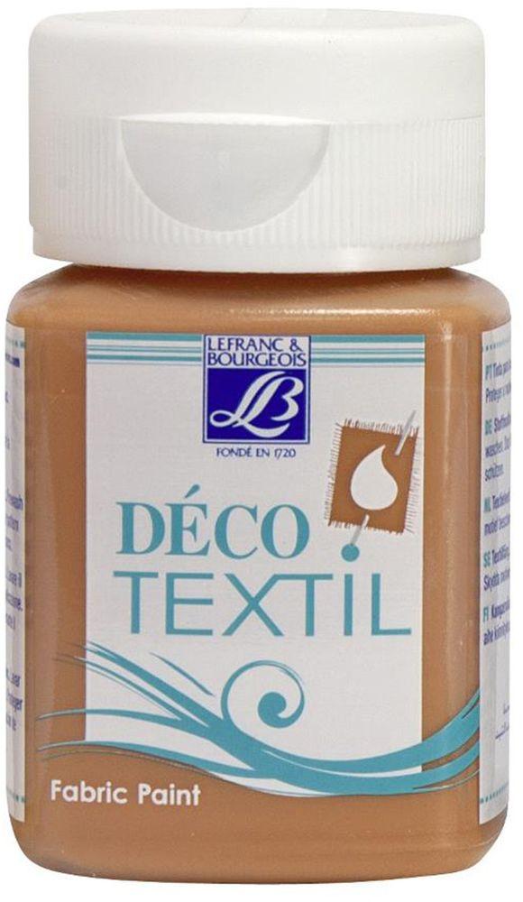 Краска по ткани Lefranc & Bourgeois Deco Textil, цвет: керамика (139), 50 млLF211517Краски Deco Textil подходят для росписи различных тканей: хлопка, шерсти, льна, синтетических тканей, фетра, велюра. Краски по ткани на водной основе наносятся легко и безупречно ложатся на ткань. Благодаря своей структуре усиливают мягкость тканевой основы и подходят для росписи как светлых, так и темных тканей (для темных основ рекомендуется наносить краску в несколько слоев). Краски для росписи ткани отлично смешиваются между собой. После термофиксации утюгом краски по ткани не боятся машинной стирки, сохраняя яркость и контрастность цветов.