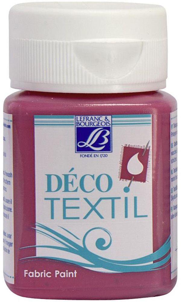 Краска по ткани Lefranc & Bourgeois Deco Textil, цвет: фуксия (443), 50 млLF211463Краски Deco Textil подходят для росписи различных тканей: хлопка, шерсти, льна, синтетических тканей, фетра, велюра. Краски по ткани на водной основе наносятся легко и безупречно ложатся на ткань. Благодаря своей структуре усиливают мягкость тканевой основы и подходят для росписи как светлых, так и темных тканей (для темных основ рекомендуется наносить краску в несколько слоев). Краски для росписи ткани отлично смешиваются между собой. После термофиксации утюгом краски по ткани не боятся машинной стирки, сохраняя яркость и контрастность цветов.