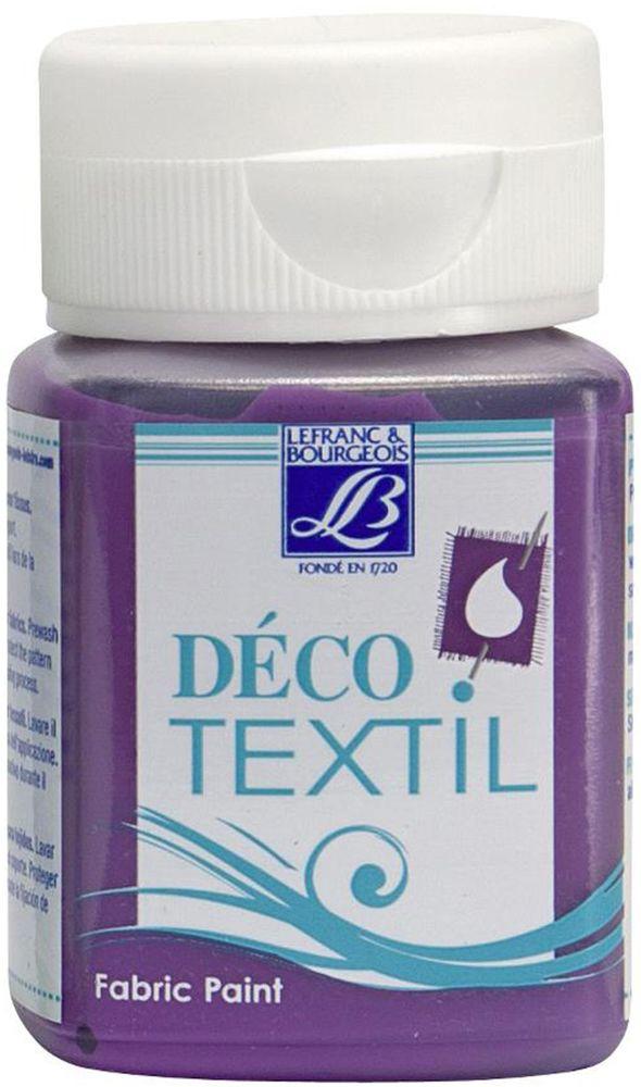 Краска по ткани Lefranc & Bourgeois Deco Textil, цвет: лиловый (660), 50 млLF211472Краски Deco Textil подходят для росписи различных тканей: хлопка, шерсти, льна, синтетических тканей, фетра, велюра. Краски по ткани на водной основе наносятся легко и безупречно ложатся на ткань. Благодаря своей структуре усиливают мягкость тканевой основы и подходят для росписи как светлых, так и темных тканей (для темных основ рекомендуется наносить краску в несколько слоев). Краски для росписи ткани отлично смешиваются между собой. После термофиксации утюгом краски по ткани не боятся машинной стирки, сохраняя яркость и контрастность цветов.