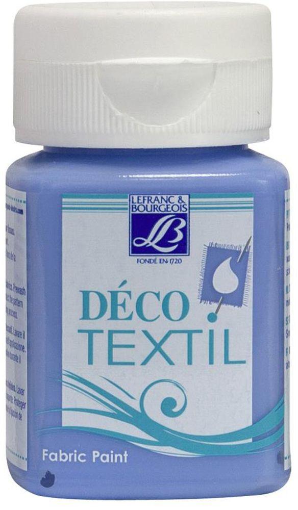 Краска по ткани Lefranc & Bourgeois Deco Textil, цвет: голубой колокольчик (823), 50 млLF211638Краски Deco Textil подходят для росписи различных тканей: хлопка, шерсти, льна, синтетических тканей, фетра, велюра. Краски по ткани на водной основе наносятся легко и безупречно ложатся на ткань. Благодаря своей структуре усиливают мягкость тканевой основы и подходят для росписи как светлых, так и темных тканей (для темных основ рекомендуется наносить краску в несколько слоев). Краски для росписи ткани отлично смешиваются между собой. После термофиксации утюгом краски по ткани не боятся машинной стирки, сохраняя яркость и контрастность цветов.