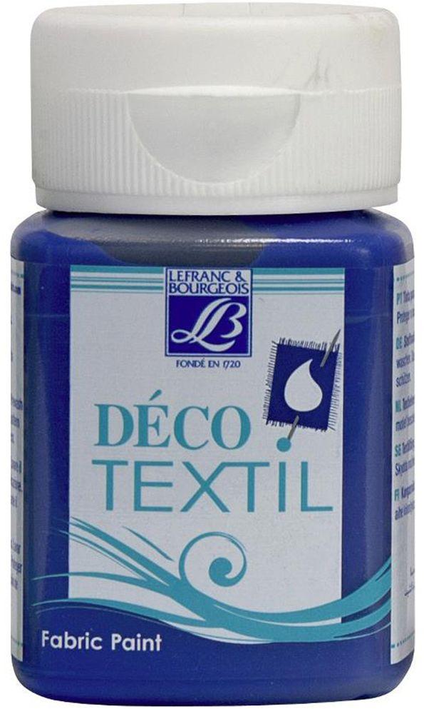 Краска по ткани Lefranc & Bourgeois Deco Textil, цвет: синее море (831), 50 млZ0058-01Краски Deco Textil подходят для росписи различных тканей: хлопка, шерсти, льна, синтетических тканей, фетра, велюра. Краски по ткани на водной основе наносятся легко и безупречно ложатся на ткань. Благодаря своей структуре усиливают мягкость тканевой основы и подходят для росписи как светлых, так и темных тканей (для темных основ рекомендуется наносить краску в несколько слоев). Краски для росписи ткани отлично смешиваются между собой. После термофиксации утюгом краски по ткани не боятся машинной стирки, сохраняя яркость и контрастность цветов.