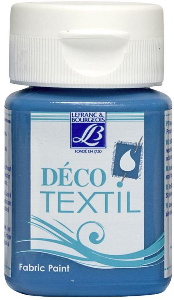 Краска по ткани Lefranc & Bourgeois Deco Textil, цвет: бирюзовый (058), 50 млLF211479Краски Deco Textil подходят для росписи различных тканей: хлопка, шерсти, льна, синтетических тканей, фетра, велюра. Краски по ткани на водной основе наносятся легко и безупречно ложатся на ткань. Благодаря своей структуре усиливают мягкость тканевой основы и подходят для росписи как светлых, так и темных тканей (для темных основ рекомендуется наносить краску в несколько слоев). Краски для росписи ткани отлично смешиваются между собой. После термофиксации утюгом краски по ткани не боятся машинной стирки, сохраняя яркость и контрастность цветов.