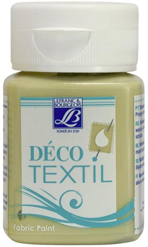 Краска по ткани Lefranc & Bourgeois Deco Textil, цвет: вербена (581), 50 мл05043180Краски Deco Textil подходят для росписи различных тканей: хлопка, шерсти, льна, синтетических тканей, фетра, велюра. Краски по ткани на водной основе наносятся легко и безупречно ложатся на ткань. Благодаря своей структуре усиливают мягкость тканевой основы и подходят для росписи как светлых, так и темных тканей (для темных основ рекомендуется наносить краску в несколько слоев). Краски для росписи ткани отлично смешиваются между собой. После термофиксации утюгом краски по ткани не боятся машинной стирки, сохраняя яркость и контрастность цветов.