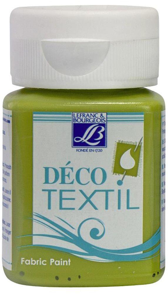 Краска по ткани Lefranc & Bourgeois Deco Textil, цвет: зеленая бронза (886), 50 мл05042270Краски Deco Textil подходят для росписи различных тканей: хлопка, шерсти, льна, синтетических тканей, фетра, велюра. Краски по ткани на водной основе наносятся легко и безупречно ложатся на ткань. Благодаря своей структуре усиливают мягкость тканевой основы и подходят для росписи как светлых, так и темных тканей (для темных основ рекомендуется наносить краску в несколько слоев). Краски для росписи ткани отлично смешиваются между собой. После термофиксации утюгом краски по ткани не боятся машинной стирки, сохраняя яркость и контрастность цветов.