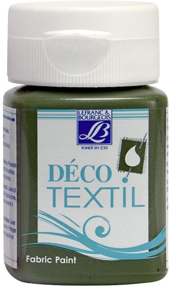 Краска по ткани Lefranc & Bourgeois Deco Textil, цвет: папоротник (572), 50 мл05043140Краски Deco Textil подходят для росписи различных тканей: хлопка, шерсти, льна, синтетических тканей, фетра, велюра. Краски по ткани на водной основе наносятся легко и безупречно ложатся на ткань. Благодаря своей структуре усиливают мягкость тканевой основы и подходят для росписи как светлых, так и темных тканей (для темных основ рекомендуется наносить краску в несколько слоев). Краски для росписи ткани отлично смешиваются между собой. После термофиксации утюгом краски по ткани не боятся машинной стирки, сохраняя яркость и контрастность цветов.
