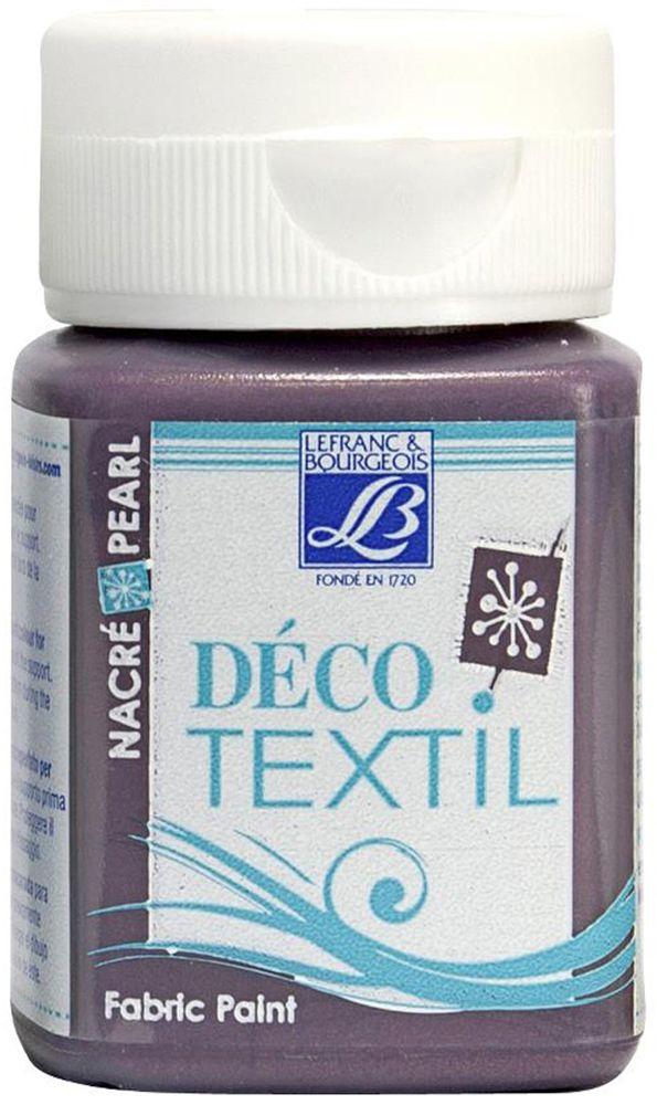 Краска по ткани Lefranc & Bourgeois Deco Textil, цвет: перламутровый античный розовый (744), 50 млLF211472Краски Deco Textil подходят для росписи различных тканей: хлопка, шерсти, льна, синтетических тканей, фетра, велюра. Краски по ткани на водной основе наносятся легко и безупречно ложатся на ткань. Благодаря своей структуре усиливают мягкость тканевой основы и подходят для росписи как светлых, так и темных тканей (для темных основ рекомендуется наносить краску в несколько слоев). Краски для росписи ткани отлично смешиваются между собой. После термофиксации утюгом краски по ткани не боятся машинной стирки, сохраняя яркость и контрастность цветов.