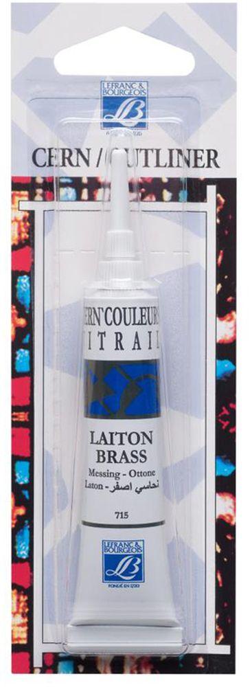 "Контур по стеклу и керамике без обжига Lefranc & Bourgeois ""Outliner"", цвет: латунь (715), 20 мл"