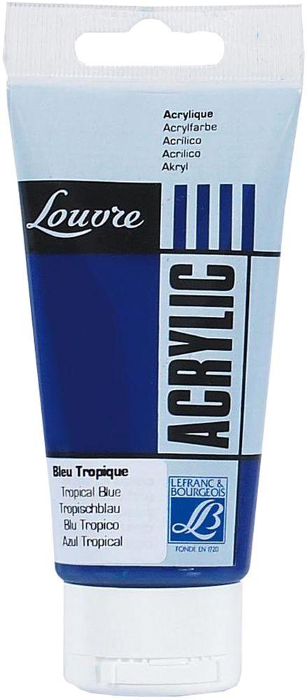 Краска акриловая Lefranc & Bourgeois Louvre, цвет: 091 Голубой тропический, 80 млLF174400Художественные акриловые краски Louvre - это высококачественная краска. Подходит для работы по холсту, бумаге, картону, дереву. Идеально смешиваются между собой, при этом получается чистый цвет, благодаря высокой концентрации пигмента. Водорастворимы.