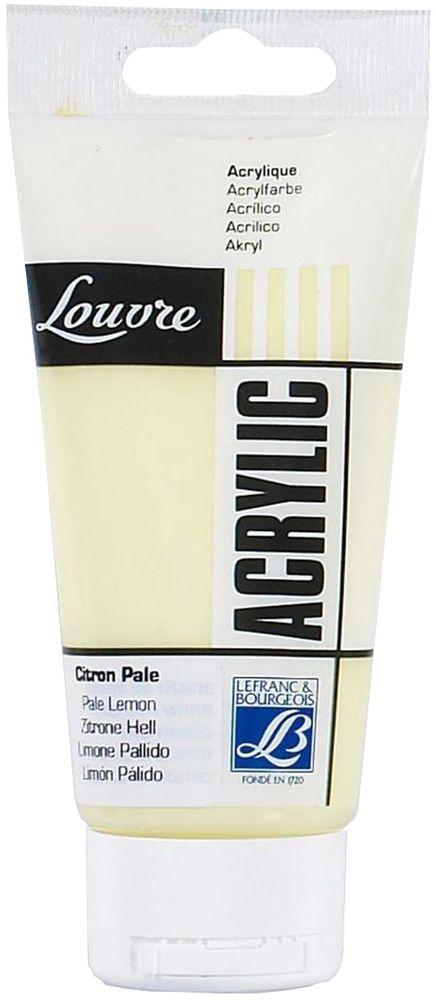 Краска акриловая Lefranc & Bourgeois Louvre, цвет: бледно-лимонный (237), 80 мл35123Художественные акриловые краски Louvre - это высококачественная краска. Подходит для работы по холсту, бумаге, картону, дереву. Идеально смешиваются между собой, при этом получается чистый цвет, благодаря высокой концентрации пигмента. Водорастворимы.