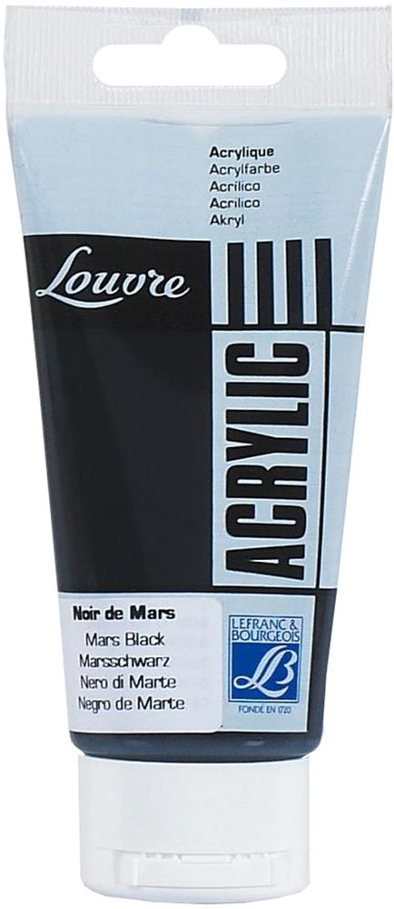 Краска акриловая Lefranc & Bourgeois Louvre, цвет: черный марс (271), 80 млLF106122Художественные акриловые краски Louvre - это высококачественная краска. Подходит для работы по холсту, бумаге, картону, дереву. Идеально смешиваются между собой, при этом получается чистый цвет, благодаря высокой концентрации пигмента. Водорастворимы.