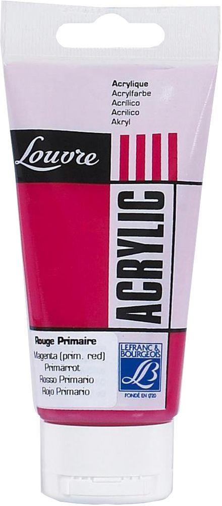 Краска акриловая Lefranc & Bourgeois Louvre, цвет: маджента, 80 млFP-12Художественные акриловые краски Louvre - это высококачественная краска. Подходит для работы по холсту, бумаге, картону, дереву. Идеально смешиваются между собой, при этом получается чистый цвет, благодаря высокой концентрации пигмента. Водорастворимы.