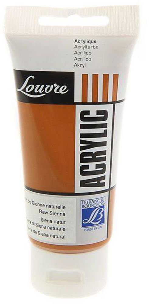 Краска акриловая Lefranc & Bourgeois Louvre, цвет: натуральная сиена (482), 80 млFP-14Художественные акриловые краски Louvre - это высококачественная краска. Подходит для работы по холсту, бумаге, картону, дереву. Идеально смешиваются между собой, при этом получается чистый цвет, благодаря высокой концентрации пигмента. Водорастворимы.