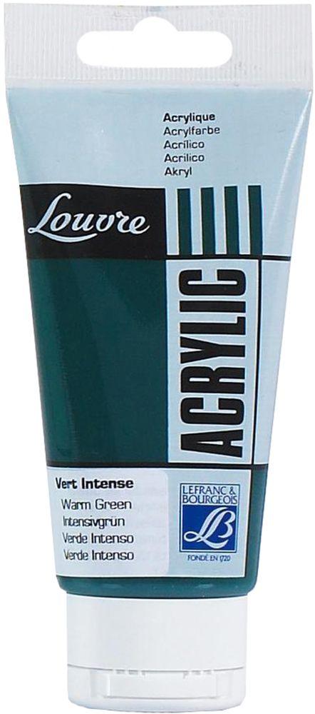Краска акриловая Lefranc & Bourgeois Louvre, цвет: зеленый теплый (534), 80 мл540501Художественные акриловые краски Louvre - это высококачественная краска. Подходит для работы по холсту, бумаге, картону, дереву. Идеально смешиваются между собой, при этом получается чистый цвет, благодаря высокой концентрации пигмента. Водорастворимы.