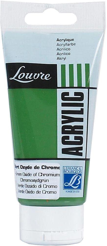Краска акриловая Lefranc & Bourgeois Louvre, цвет: зеленый оксид хрома (542), 80 мл520000Художественные акриловые краски Louvre - это высококачественная краска. Подходит для работы по холсту, бумаге, картону, дереву. Идеально смешиваются между собой, при этом получается чистый цвет, благодаря высокой концентрации пигмента. Водорастворимы.