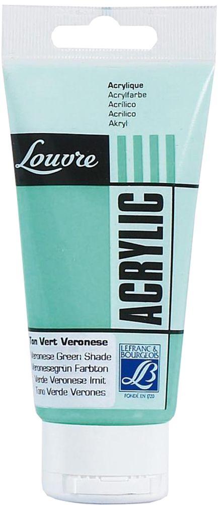 Краска акриловая Lefranc & Bourgeois Louvre, цвет: зеленый веронезе (551), 80 мл520000Художественные акриловые краски Louvre - это высококачественная краска. Подходит для работы по холсту, бумаге, картону, дереву. Идеально смешиваются между собой, при этом получается чистый цвет, благодаря высокой концентрации пигмента. Водорастворимы.