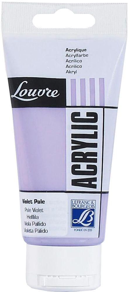 Краска акриловая Lefranc & Bourgeois Louvre, цвет: бледно-фиолетовый (659), 80 млZ0058-05Художественные акриловые краски Louvre - это высококачественная краска. Подходит для работы по холсту, бумаге, картону, дереву. Идеально смешиваются между собой, при этом получается чистый цвет, благодаря высокой концентрации пигмента. Водорастворимы.