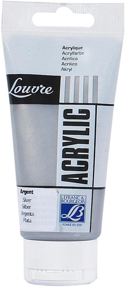 "Краска акриловая Lefranc & Bourgeois ""Louvre"", цвет: серебро (710), 80 мл"
