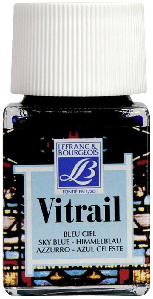 Краска по стеклу Lefranc & Bourgeois Vetrail, цвет: небесно-голубой (028), 50 мл05042420Краски по стеклу Vitrail густые, прозрачные, взаимосмешиваемые. При нанесении образуют ровный глянцевый слой, не образуют подтеков и не мутнеют после высыхания. Эти краски идеально походят для создания витражей и декорирования.