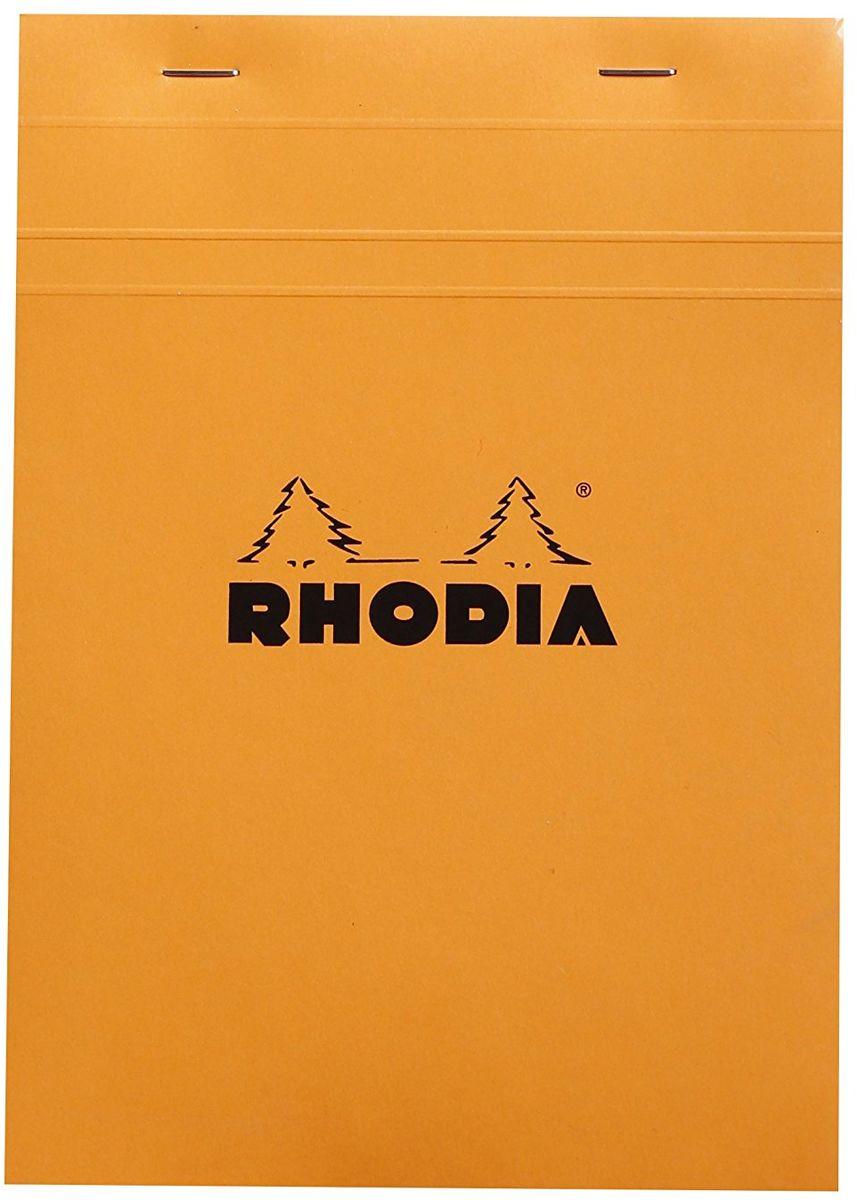 Rhodia Блокнот 80 листов в клетку формат А5 цвет оранжевый16200CКлассический блокнот Rhodia выполнен в ярком оранжевом цвете. Он подойдет для фиксации планов и личных записей, а также и для рабочего процесса. Внутри блокнота листы в клетку. Обложка выполнена из плотного картона с водонепроницаемой пропиткой, для удобства очень легко гнется.