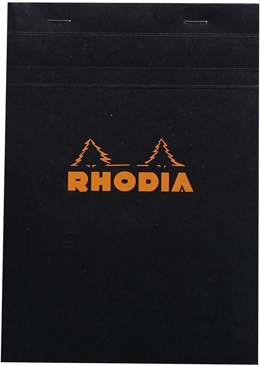 Rhodia Блокнот 80 листов в клетку формат А5 цвет черный162009CБлокнот Rhodia классического черного цвета подойдет, как для рабочего процесса, так и для творческих мыслей. Обложка блокнота выполнена из плотного картона с водонепроницаемой пропиткой. Картон не толстый, поэтому его легко согнуть и разогнуть для удобства. Внутри листы из веленевой бумаги в крупную клетку.