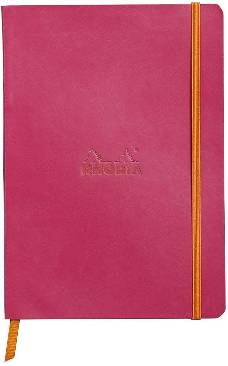 Rhodia Записная книжка 80 листов в линейку цвет малиновый117412CБлокнот Rhodia выполнен в ярком малиновом цвете. Сверху у нее мягкая обложка из искусственной итальянской кожи, а внутри бумага цвета слоновой кости. Также у блокнота есть шелковая закладка. Он подойдет, как для рабочего процесса, так и для творческих идей.