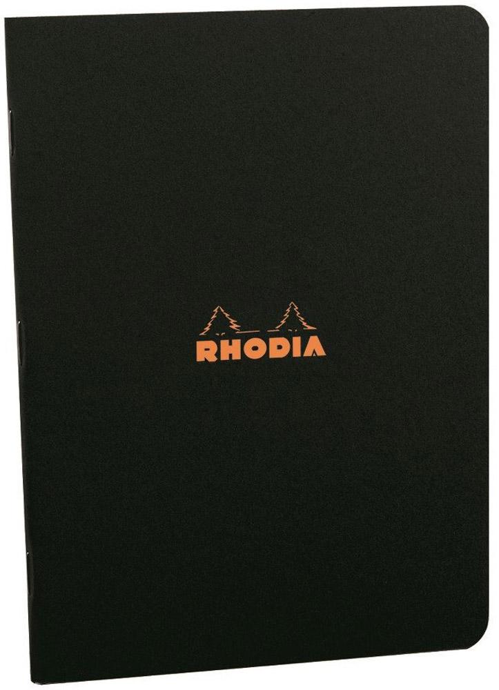Rhodia Тетрадь 48 листов в клетку формат А5 цвет черный119183CУльтра тонкая и компактная тетрадь в классическом стиле Rhodia c черной водонепроницаемой обложкой. Внутри 48 листов в клетку 5х5 мм из экстра белой бумаги плотностью 80гр/м2, цвет линий - светло-серый. Мягкая картонная обложка, края скругленные.