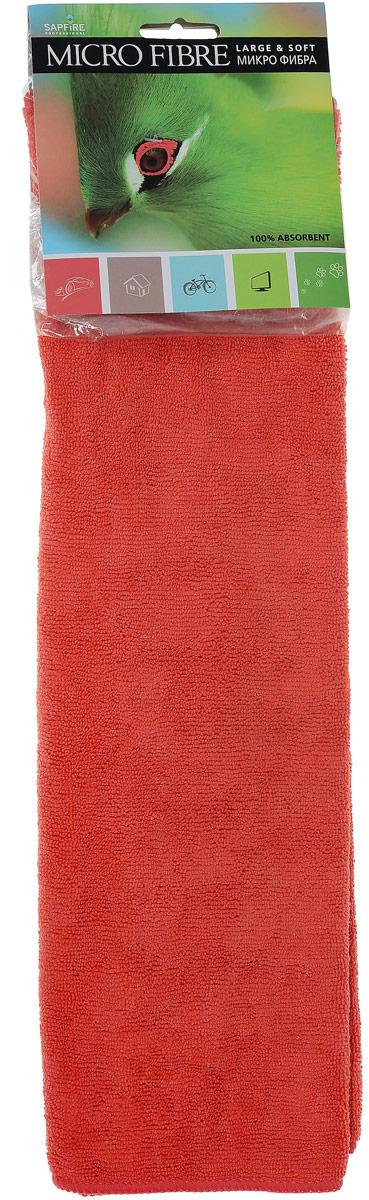 Салфетка чистящая Sapfire Large & Soft, цвет: коралловый, 60 х 50 см3011-SFM_каралловыйЧистящая салфетка Sapfire Large & Soft выполнена из микрофибры (85% полиэстер, 15% полиамид). Каждая нить после специальной химической обработки расщепляется на 12-16 клиновидных микроволокон. Микрофибровое полотно удаляет грязь с поверхности намного эффективнее, быстрее и значительно более бережно в сравнении с обычной тканью, что существенно снижает время на проведение уборки, поскольку отсутствует необходимость протирать одно и то же место дважды. Салфетка обладает уникальной способностью быстро впитывать большой объем жидкости. Клиновидные микроскопические волокна захватывают и легко удерживают частички пыли, жировой и никотиновый налет, микроорганизмы, в том числе болезнетворные и вызывающие аллергию. Благодаря своей сетчатой структуре, легко удаляет с твердых поверхностей засохшую грязь, смолу и почки деревьев, прилипших насекомых. Протертая поверхность становится идеально чистой, сухой, блестящей, без разводов и ворсинок. Микрофибра устойчива к истиранию, ее можно быстро вернуть к первоначальному виду с помощью машинной стирки при малом количестве моющих средств. Состав салфетки: полиэстер (85%), полиамид (15%).Размер салфетки: 60 х 50 см.