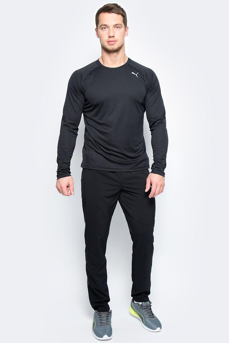 Лонгслив мужской Puma Core-Run L/S Tee, цвет: черный. 51501001. Размер XXL (52/54)51501001Изделие изготовлено с использованием высокофункциональной технологии DryCell, которая отводит влагу, поддерживает тело сухим и гарантирует комфорт во время активных тренировок и занятий спортом. Легкий супердышащий материал изделия прекрасно держит форму и обеспечивает полный комфорт. Логотип и другие декоративные элементы, в том числе, петлица сзади на горловине, выполнены из светоотражающего материала и позаботятся о вашей безопасности в темное время суток. Также ворот отделан клеящейся тесьмой. Плоские швы не натирают кожу и обеспечивают непревзойденный комфорт. Удобный покрой рукавов-реглан не стесняют движений.